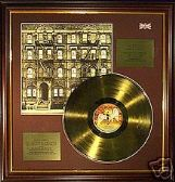 LED ZEPPELIN - Physical Graffiti - 24 Carat Gold Disc LP  and cover